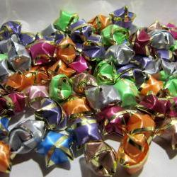 Origami Lucky Stars (100 Stars) Multi Color w/Gold Edge